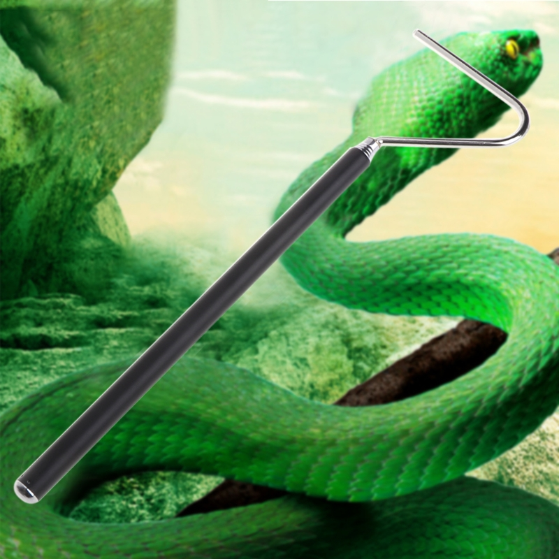 Snake Hook Stainless Steel Black Sliver Adjustable Long Handle Catching Tools Trap Tong Dropshipping