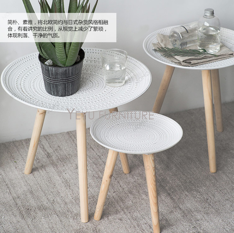 Coffee Table Simple Modern Creative Small Coffee Table: Minimalist Modern Design Polyresin And Solid Wood Small