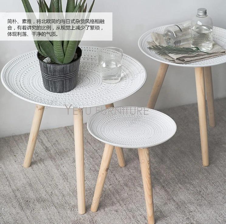 petite table d appoint minimaliste en polyresine et bois massif table d angle table basse table a the en bois de mode creative