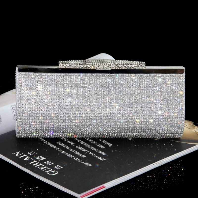 Women Full Diamond Clutch Rhinestone Evening Bag Luxury Bling Crystal Wedding Br