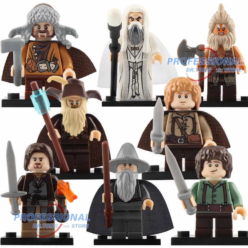 Figura única del Señor de los anillos gandaf Thranduil Elrond Galadriel Merry Arwen bloques de construcción figuras de juguetes para niños