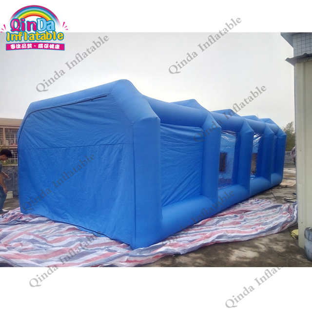 Inflatable Spray Booth Cube Inflatable Car Spray Paint Booth folding room Portable Spray Booth With Two Air Blowers