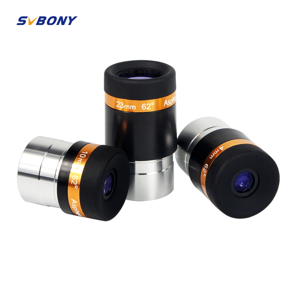 3pcs SVBONY 1.25 Aspheric Eyepiece Telescope HD Wide Angle 62 De 4/10/23mm Fully Coated for Astronomy Telescope F9301 цена