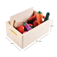 Wooden Pretend Play Set Educational Cooking Simulation Miniature Food Model Fruits and Vegetables Kids Kitchen Toys