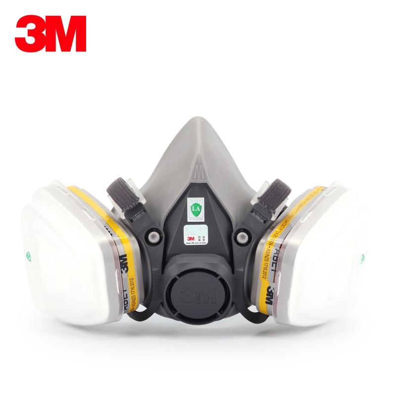 3M 6200 Reusable Half Face Mask with 6057 Respirator Mask organic gases Chlorine Acid Gas Cartridge Vapor LT147