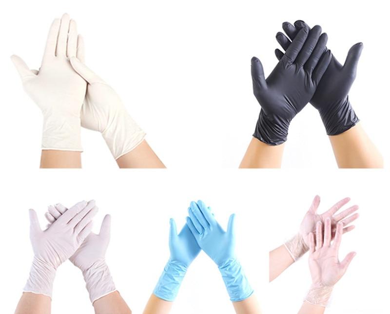 50/100pcs Disposable latex rubber gloves