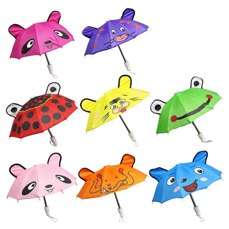 Baby Girls DIY Toys Dolls Accessories Umbrella For 18 inch Girls Baby Dolls Handmade Outdoor Children Best Gift