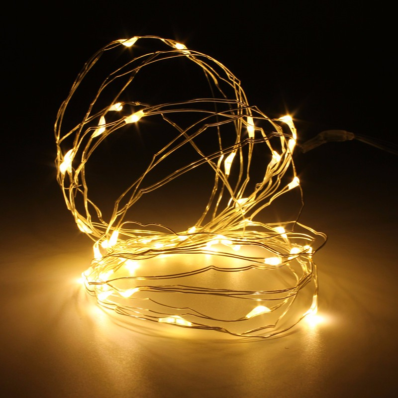 Mising 5M 50 LED String Light Christmas Copper Wire LED String Fairy Light AAA Battery Operated Party Wedding Decor