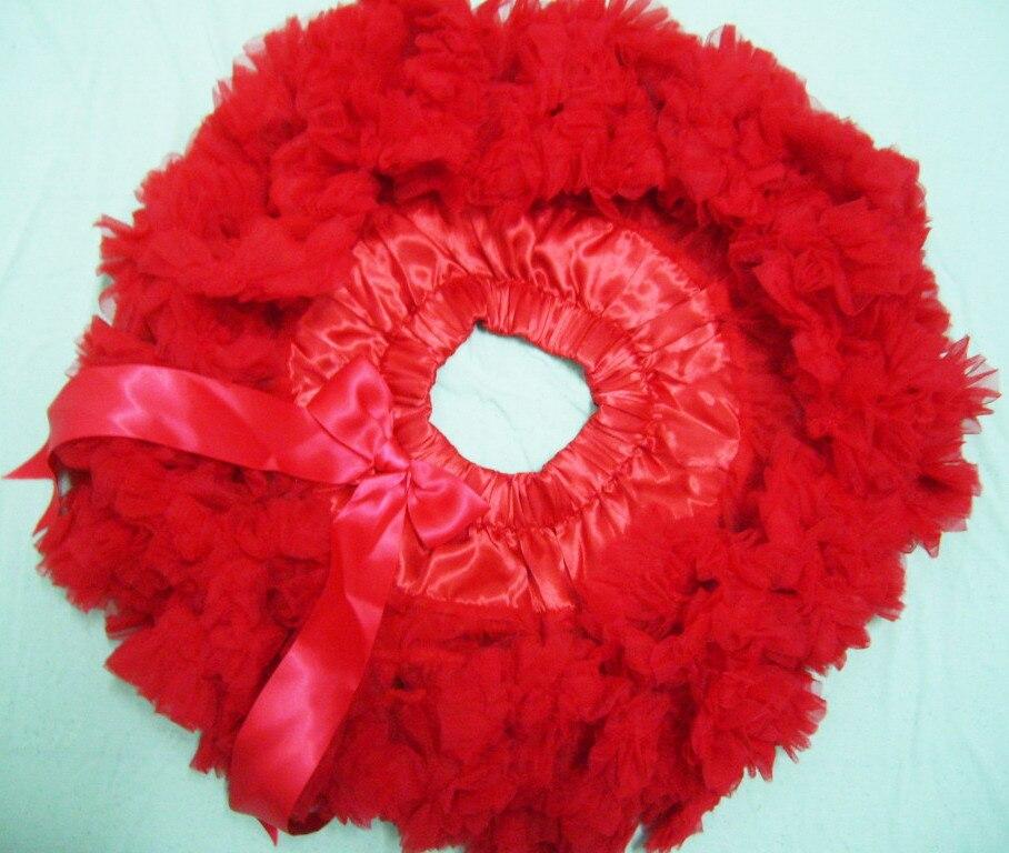 Юбка-американка для девочек Петти юбка-пачка для танцев желтый цвет пышная Мягкая юбка Юбка-пачка для девочек - Цвет: Red