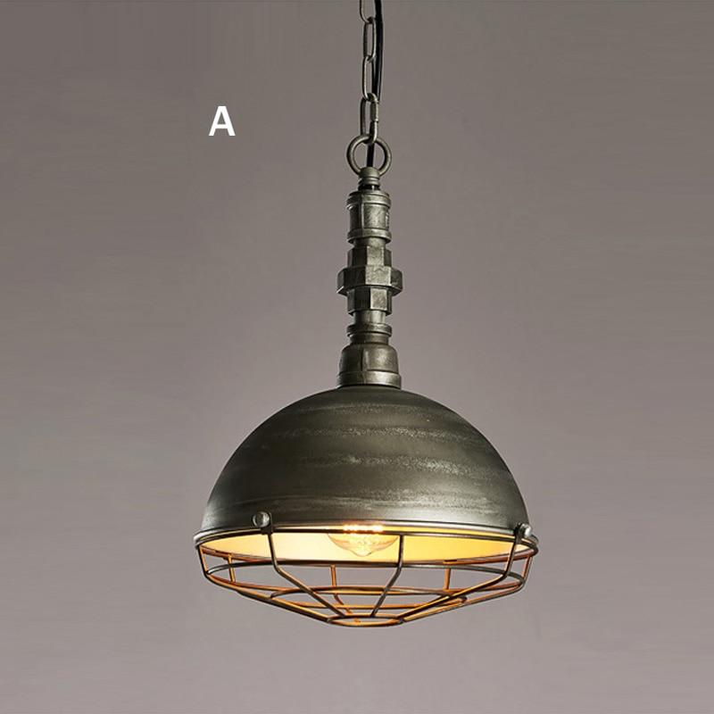 Luminaire suspendu de Style industriel Loft lampes suspendues rétro lampe pendante minière créative pour Luminaire de Restaurant Edison - 2