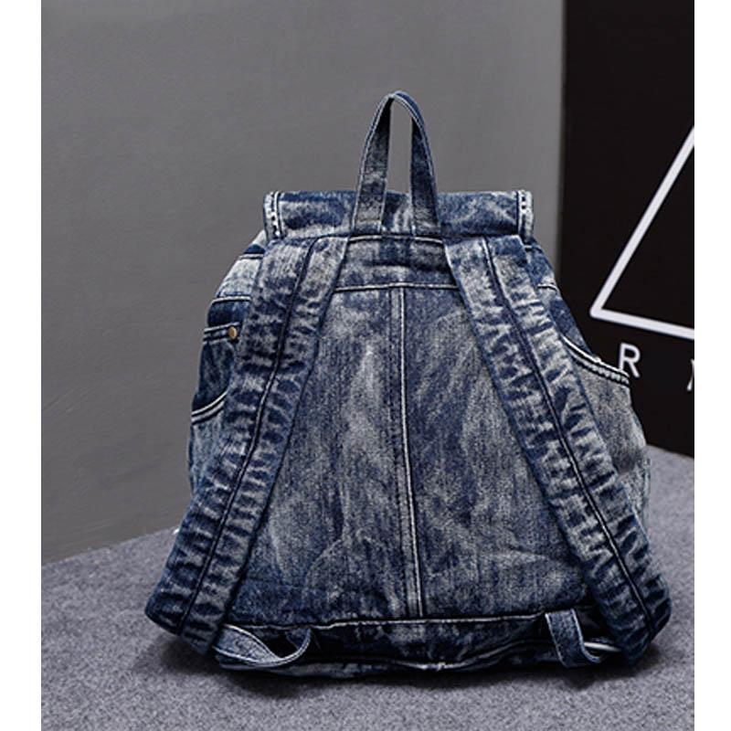 iPinee vruće prodaja mochila feminina ženski ruksak traper ruksak - Ruksaci - Foto 4