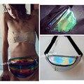Diseñador Multi Estilo Punk Chic Bolsa de Arco Iris transparente Holograma Bum RIÑONERA Punky Monedero Bolso de La Cintura
