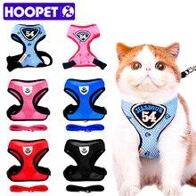 HOOPET кошка жилет использовать Поводки-Собаки костюм Темно-синие жгут ПЭТ Кот Щенок Pet Cat мелких животных