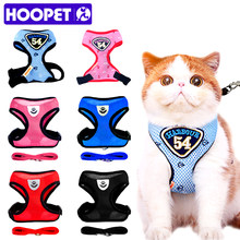 HOOPET animal de compagnie chat gilet harnais laisses costume bleu marine harnais chat de compagnie chiot chat de compagnie petit animal de compagnie(China)