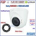 1080 P ip-камера P2P SONY IMX323 2.0MP видеонаблюдения Камера Ночного Видения Безопасности CCTV, ONVIF 2.4, 2.8-12 мм Объектив, H.264