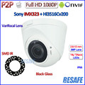 1080P ip camera P2P SONY IMX323 2.0MP video surveillance Vandalproof Night Vision Security CCTV, ONVIF 2.4, 2.8-12mm Lens, H.264