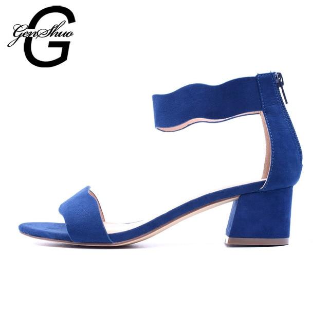 Женские босоножки летние женские сандалии с открытым носком низком квадратном каблуке 5 см женская обувь черный синий Гладиатор обувь ботильоны ремешками размер 40 41