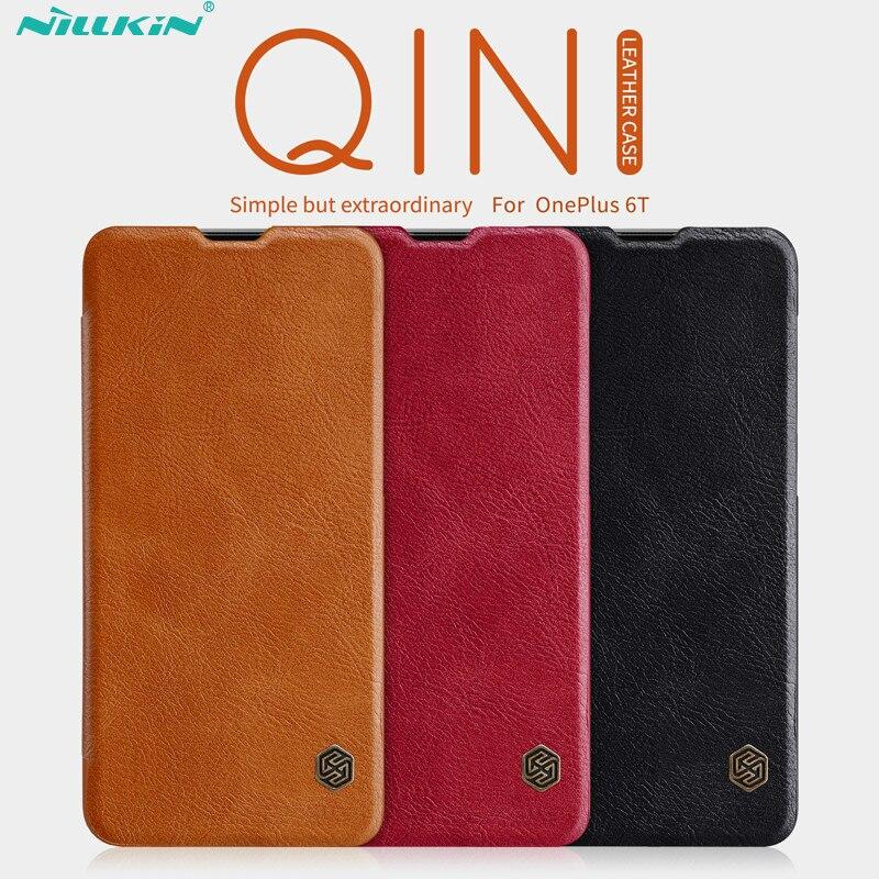 Oneplus 6 t Cas Un plus 6 t Couverture NILLKIN QIN Cas En Cuir Pour Oneplus 6 t D'affaires De Protection Flip cas de couverture