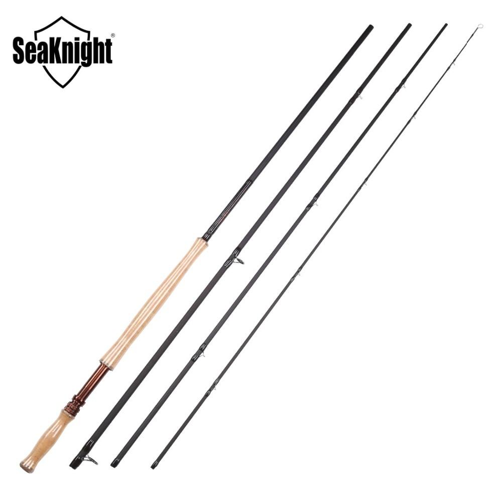 SeaKnight MAXWAY Serie Spey Honor 9/10 #4 Stukken 13FT 3.9 m 40 t Carbon 3A Zachte Houten Handvat FUJI ringen Fly Hengel - 6