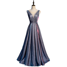 Shinning silver Long Bridesmaids Dresses sleeveless Ladies luxury Wedding Party Hot drilling Dress banquet Gowns