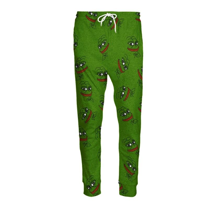 3D Pepe джоггеры Для мужчин/Для женщин Забавный мультфильм тренировочные штаны модные Костюмы Треники Осень зимний стиль Мотобрюки дропшиппинг