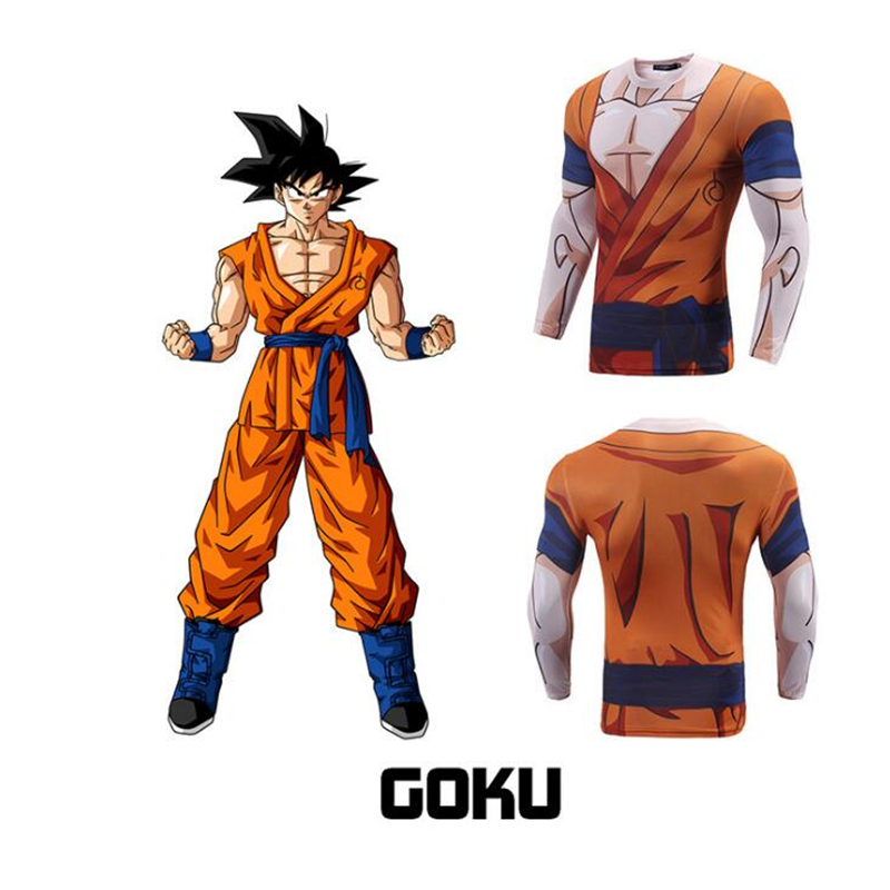 7 Dragon Ball Z Son Goku Vegeta Slimming Legging Workout Shorts Pants Vest Coat Cosplay Halloween Costume Adult