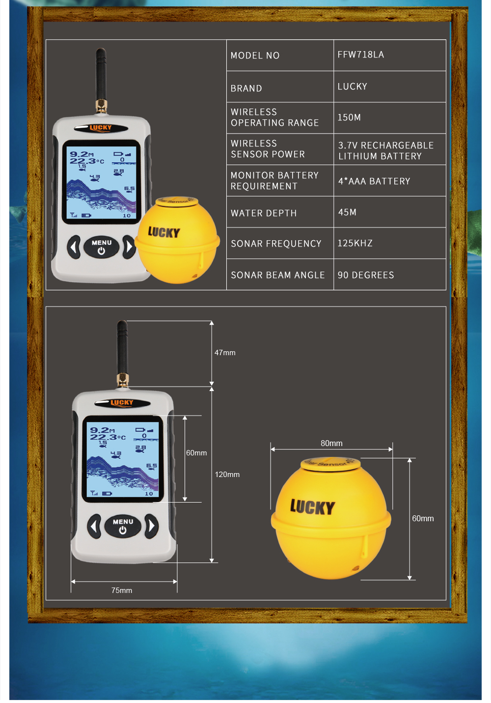 wireless portable fish finder