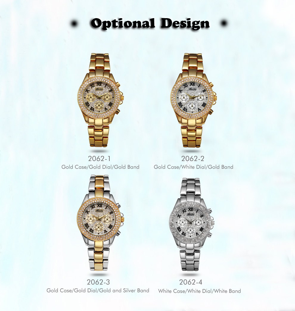 MISSFOX Women Watces Luxury Watch Women Fashion 18 Relogio Feminino Chronograph Roman Gold Ladies Watches Quartz Wristwatches 9
