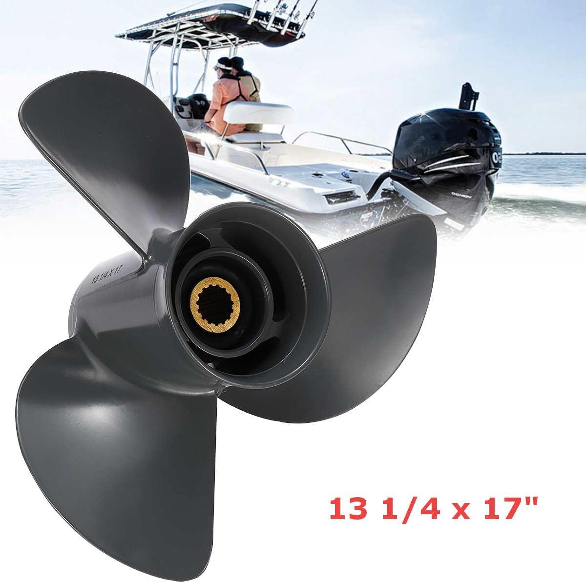 Audew 13 1/4 X 17 Outboard Propeller For Mercury Mariner 70-150HP 48-77344A45 Aluminium Alloy Marine Propeller 15 Spline Tooth