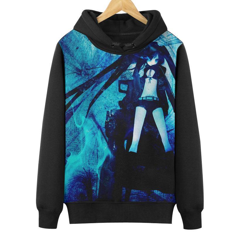 Design; In Persevering High-q Unisex Black Rock Shooter Cotton Hoodies Sweatshirts Coat Brs Kuroi Mato Takanashi Yomi Yu Koutari Hoodies Pullovers Novel