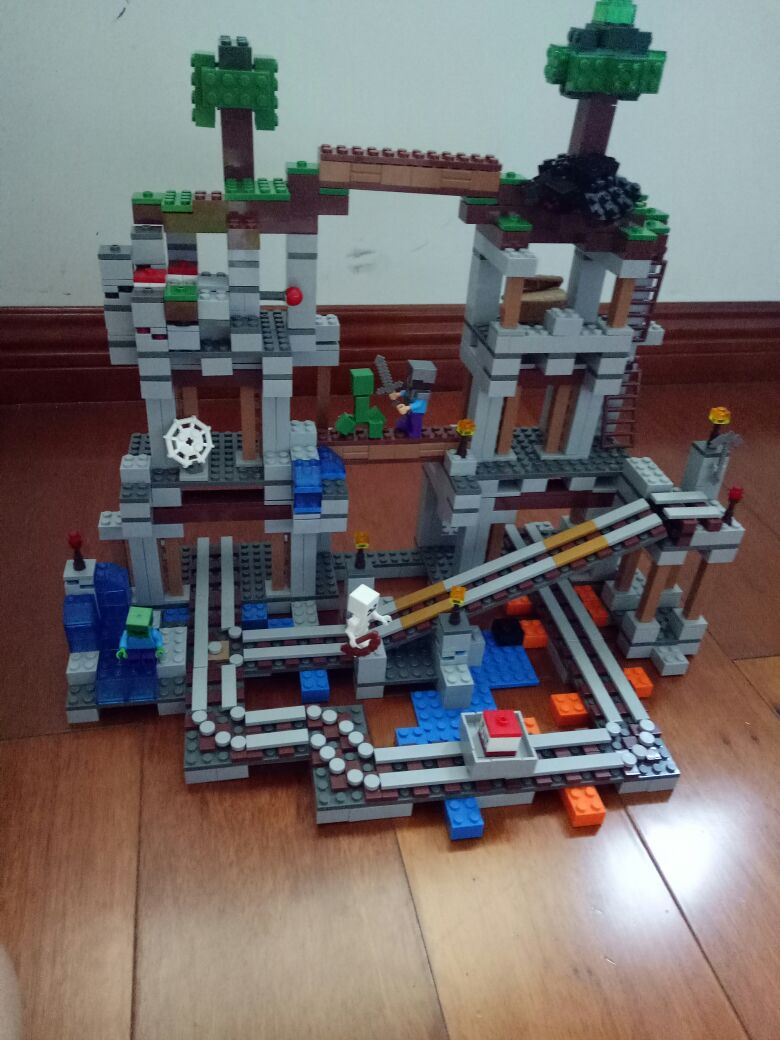 Surprise Compatible With 21118 The Mine Building block enter the darkness of The Mine My world whit track Pixel Bricks Kids Toy кардиган golden state of mine