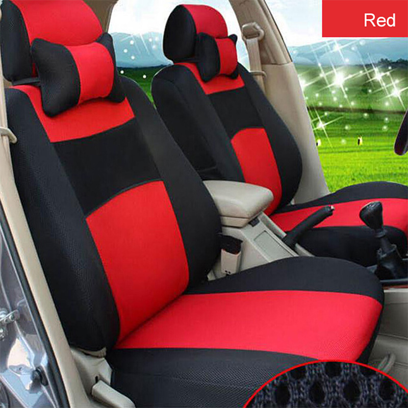 O SHI CAR Breathable Car Seat Cover Sandwich Mesh Material Four Seasons Universal Five seater Auto Covers Pad for Most Cars-in Automobiles Seat Covers from Automobiles & Motorcycles