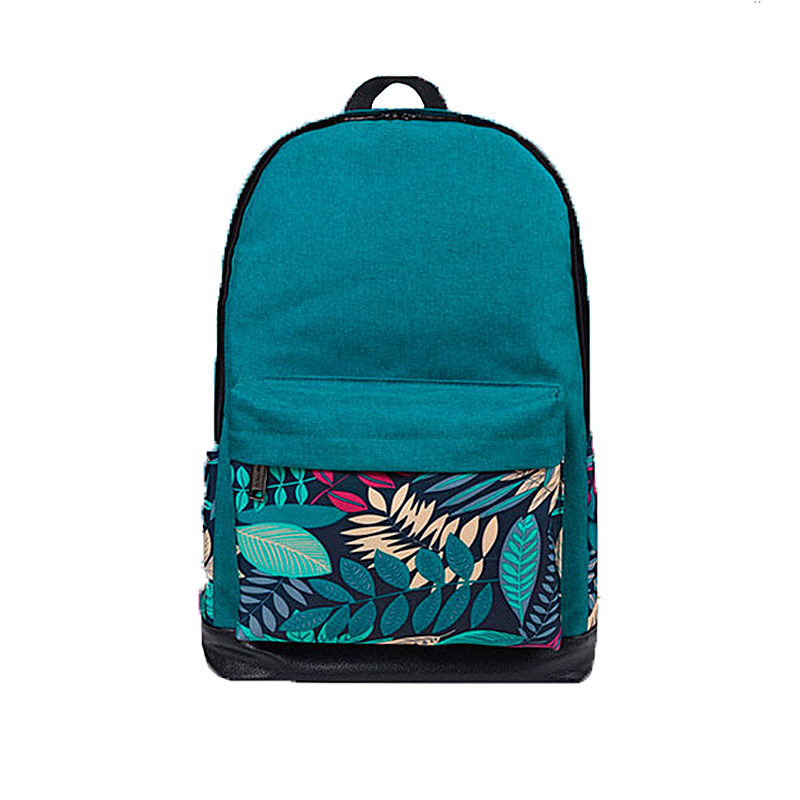 New Printing Backpack School Bags For Teenagers Canvas Women Shoulder Bags Girls Travel Bag High Quality Woman Laptop Backpacks tcttt new 2016 travel bag women laptop backpacks girl brand rivet backpack fashion chains knapsack school bags for teenagers