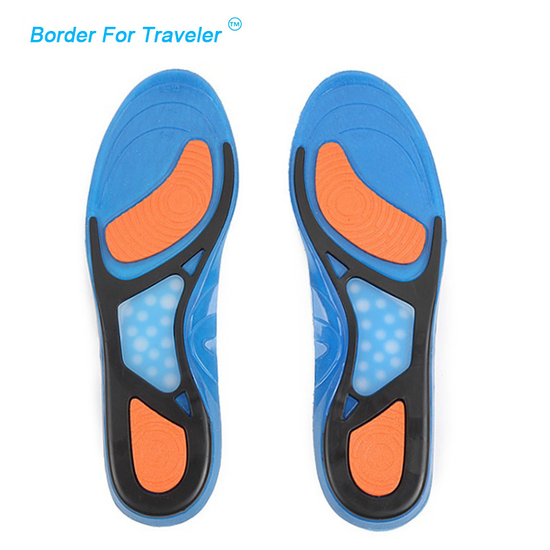 Gentle New Silicone Gel Massaging Insole Sports Insoles Foot Care Health Shock Absorption Shoe Pads Plantar Fasciitis Shoes Pad Mc003 Shoe Accessories