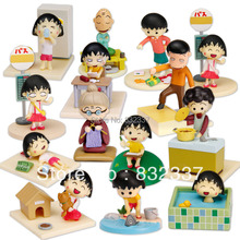High Quality PVC Minifigures Japanese Anime Cartoon Cute Chibi Maruko Action figure Toys For Children 14PCS/SET Free Shipping