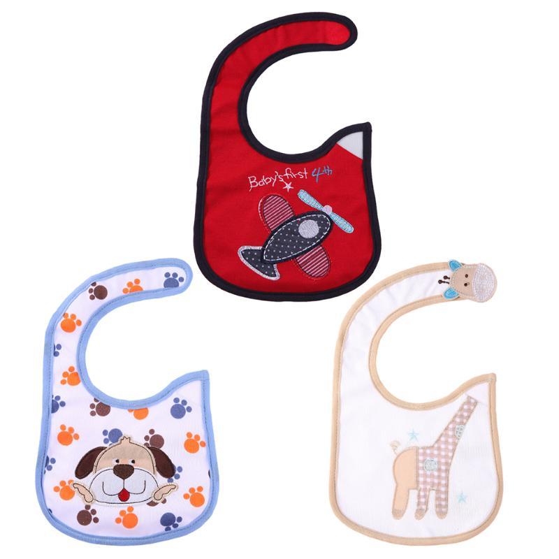 2018 New Design Detachable Baby Bibs Baby Infant Bib Slobber Cartoon Waterproof Printing Feeding Saliva Towel Cartoon Bibs