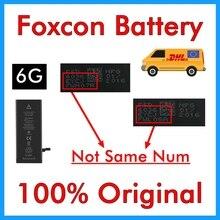 100% الأصلي 20 قطعة Foxcon بطارية ل فون 6 6G 1810 mAh حقيقية جودة 0 دورة إصلاح أجزاء