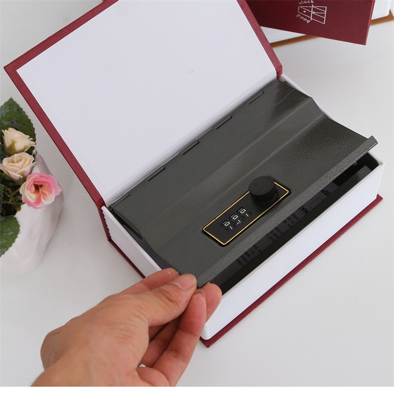 Size M 4/Color Password Hidden Box Security Home Office Jewelry Phone Safe Box English Dictionary Strongbox Steel