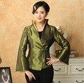 Nuevo estilo Vintage chaqueta escudo abrigos bordado tradición chino verde tamaño : m,l xl, xxl, XXXL MN032