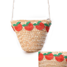 Oswego Mini Fruit Embroidered Kids Straw Bags Handbags Summer Beach Fashion Weave Casual Women Crossbody Bags For Children 2019