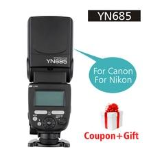 Ulanzi YONGNUO Speedlight YN685 GN60 2.4 г Беспроводной Системы TTL/I TTL вспышки для Canon Nikon HSS 1/ 8000 s Радио ведомый режим YN560IV