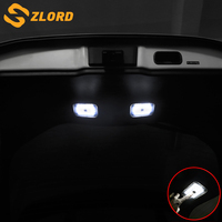 Zlord Car Backup light Lighting Day Edition Tai lbox LED Top light Car styling For Toyota C HR CHR 2016 2018 car accessories