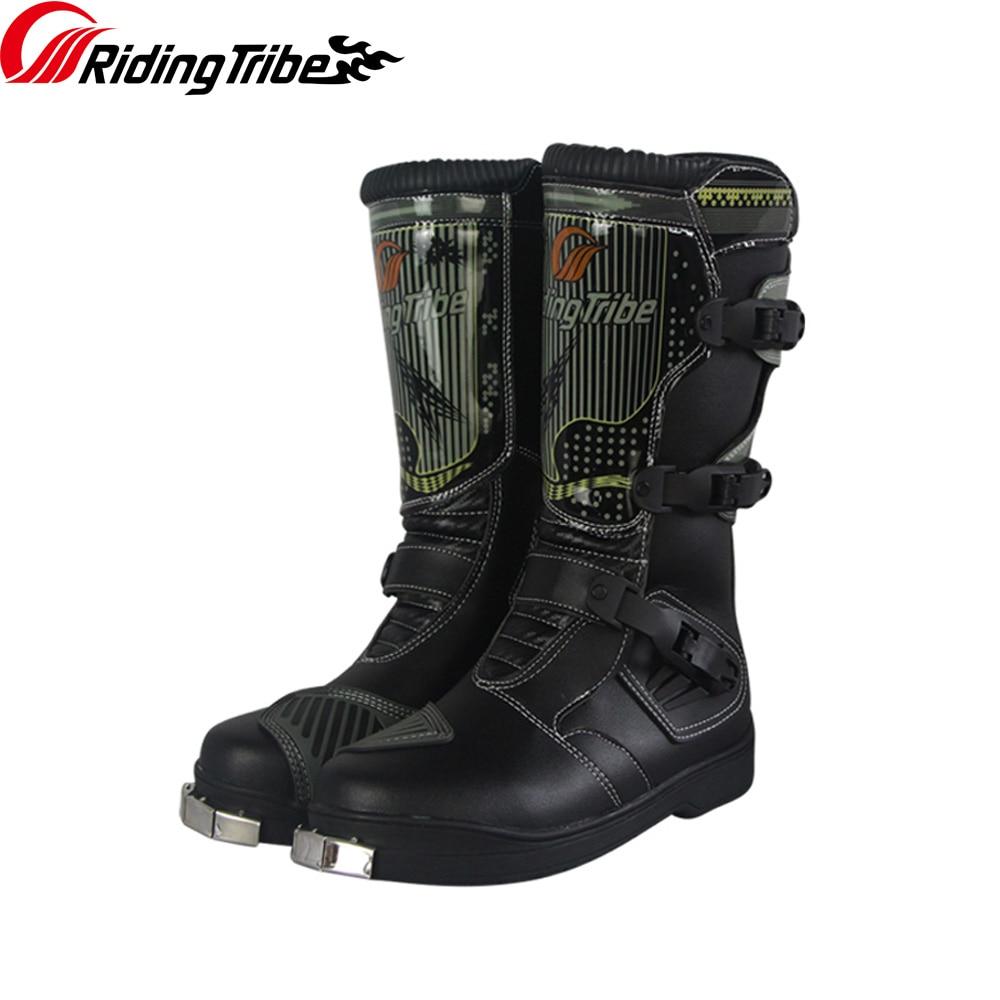 Jazda plemię mężczyzna motocykl buty jeździeckie połowy łydki ochronne Gears antypoślizgowe Moto motocykl buty wyścigowe przygoda Boot b1007