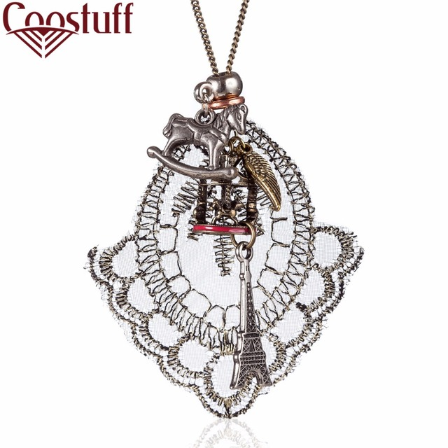 Beautiful woman jewelry statement necklaces pendants lace horse beautiful woman jewelry statement necklaces pendants lace horse eiffel tower pendant necklace women collares chokers aloadofball Images
