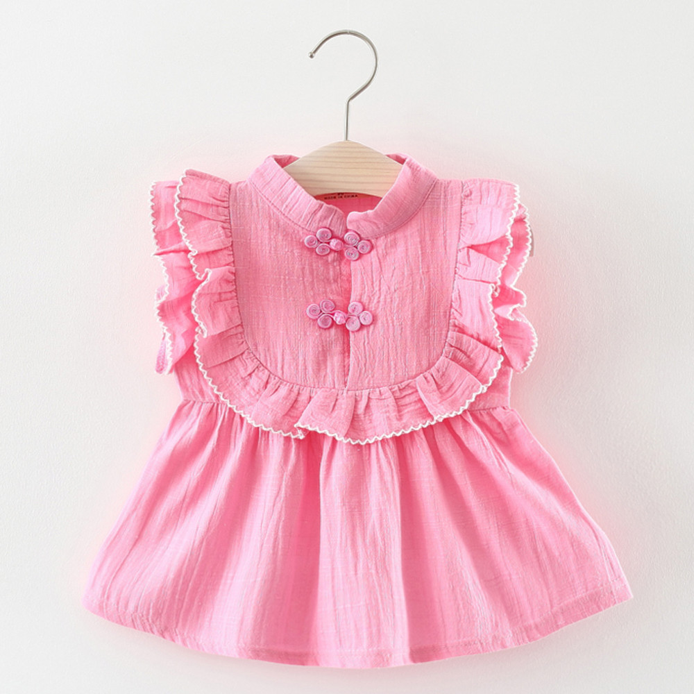 Toddler Kids Baby Girls Short Sleeve Ethnic Style Clothes Party Princess Dresses baby i bambini dreess kochanie dzieci dreess #2