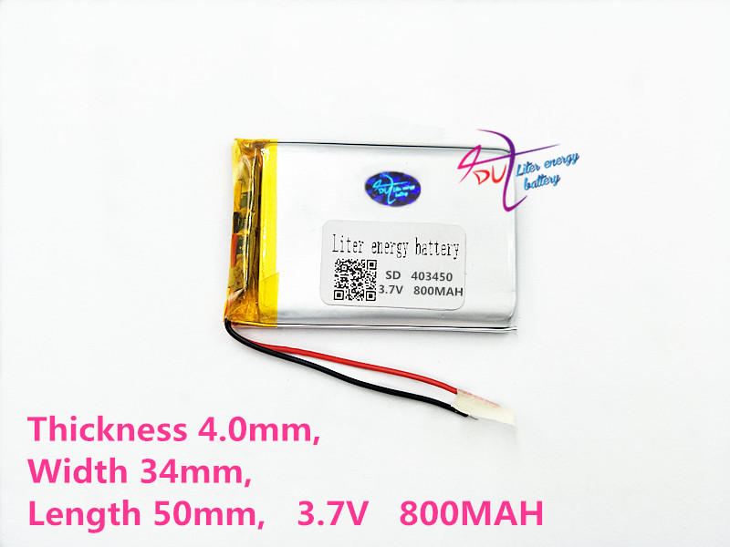 best battery brand 3.7V lithium polymer battery 403450 043450 800MAH MP3 MP4 MP5 navigator GPS DVD DVR digital products