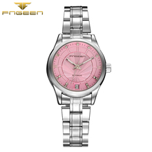 hot deal buy  fngeen automatic mechanical watch womens watches top brand luxury fashion business watch otomatik saat  cube wooden clock