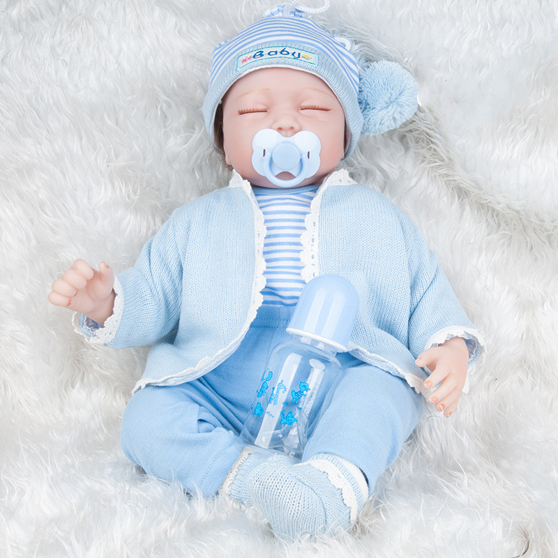 Bebes Reborn poupée 55 cm Silicone souple Reborn bambin bébé poupées Com Corpo De Silicone Menina noël Surprice cadeaux Lol poupée