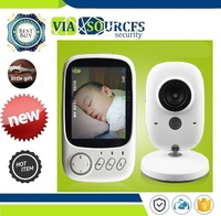 High Resolution Baby Nanny Security Camera Night Vision Temperature Monitoring 3.2 inch Wireless Video Color Baby Monitor