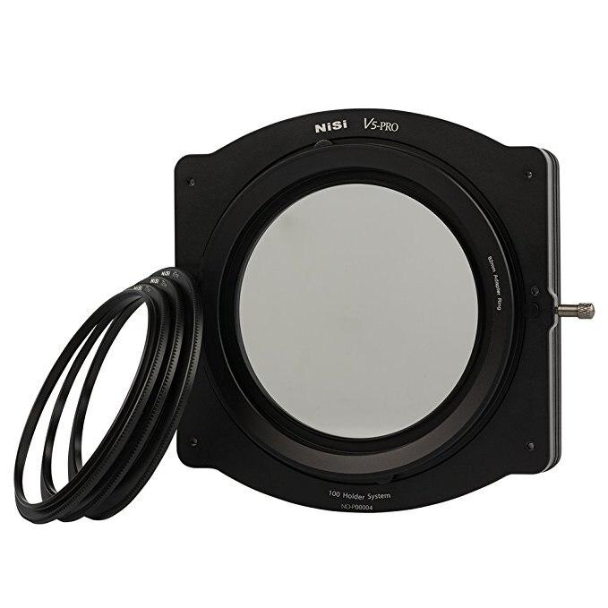 Nisi 100mm System V5-PRO Filter Holder Kit with 86mm CPL Filter and 3 Adatptor Rings 67mm 72mm 77mm